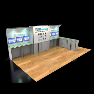Modern modular trade show exhibition display with graphic