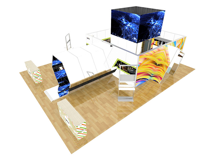 Wholesale TIANYU M Series System Used Trade Show Booth custom indoor led screen wall