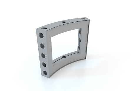 M-series Anodized Aluminum Curved Frame 1/16th