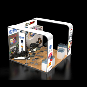 Modern modular trade show fabric exhibition booth with graphic