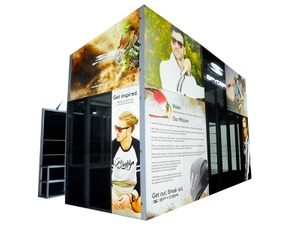 30x20ft Modern Standard custom backdrops Trade Show Exhibition Booth for Expo