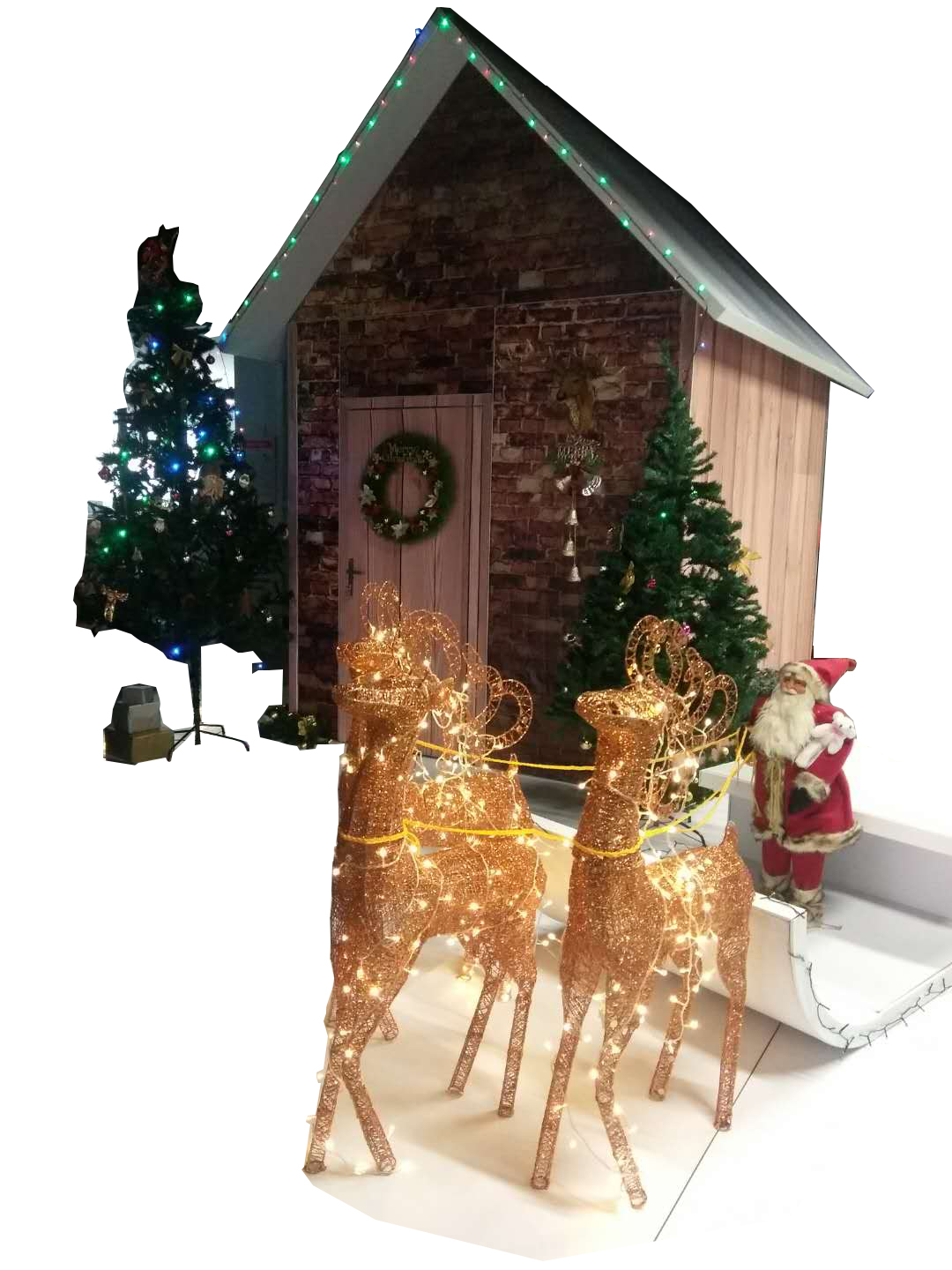 Modular m series systems that can be used as Christmas houses, castles, and custom trade show booths